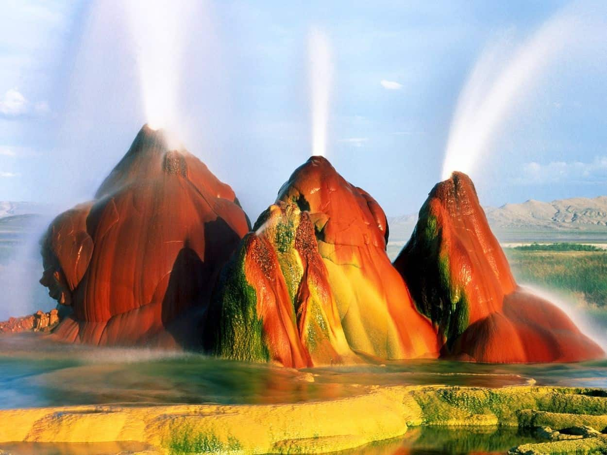 Fly Geyser in Nevada (USA)