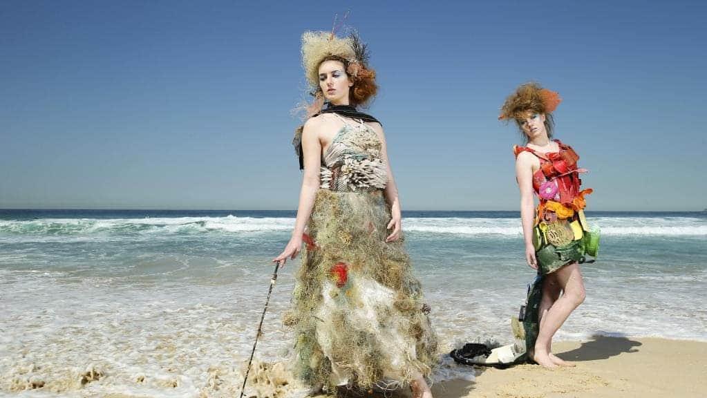Plastikmüll Mode aus Müll