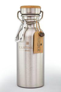 Plastikfreie Trinkflasche ohne Plastik aus Edelstahl