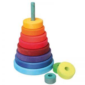 Plastikfreier Scheibenturm Kinderspielzeug Spielzeug Holz
