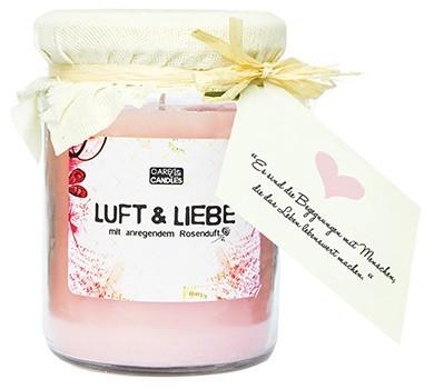 Duftkerze im Weckglas als Geschenk-Set mit Rosenduft