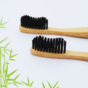 Holzzahnbürste mit Naturborsten aus Bambus-Holz plastikfrei
