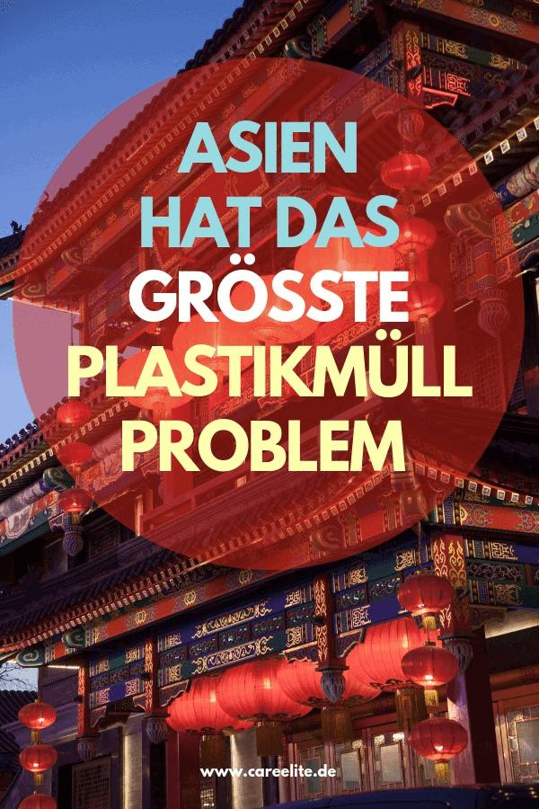 Asien Plastikmüll Problem in der Umwelt
