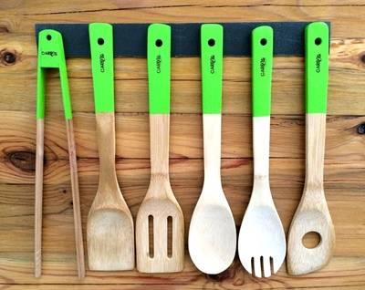 Plastikfreie Küchenhelfer aus Bambus-Holz