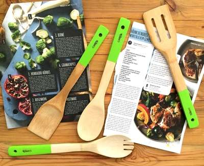 Küchenutensilien-Set ohne Plastik aus Bambus-Holz