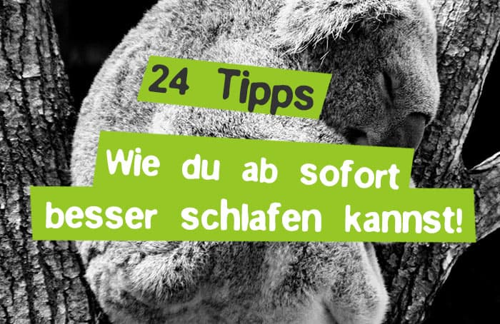 Schlafstörungen? Besser schlafen mit 24 Tipps