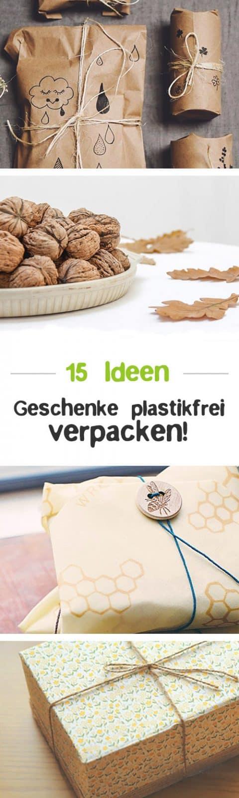Geschenke plastikfrei verpacken - Zero Waste Geschenkverpackung