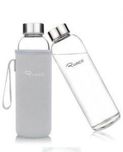 Glas-Trinkflasche ohne Plastik - Leitungswasser