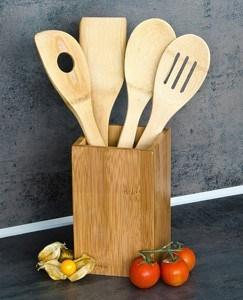 Küche ohne Plastik - Bambus Küchenhelfer