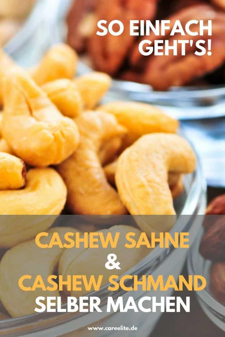 Cashew-Sahne und Cashew-Schmand selber machen DIY