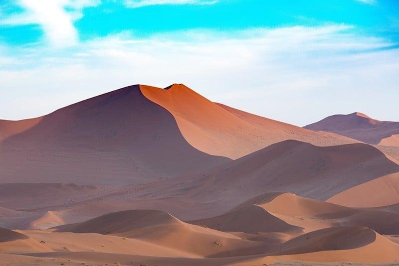 Außergewöhnliche Reiseziele in die Natur - Namibia Wüste Namib