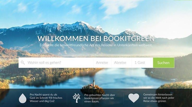 Nachhaltige Unterkünfte mit bookitgreen finden und buchen