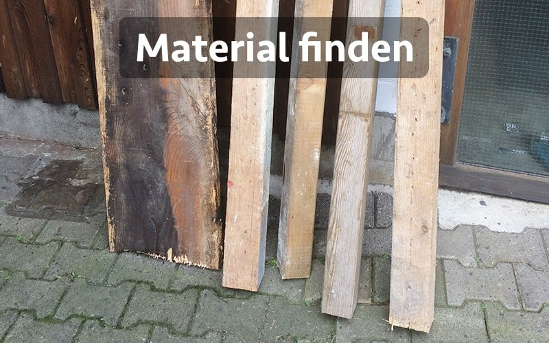 Stehschreibtisch selber bauen aus Holz & Metall