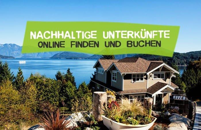 Nachhaltige Unterkünfte online buchen mit bookitgreen