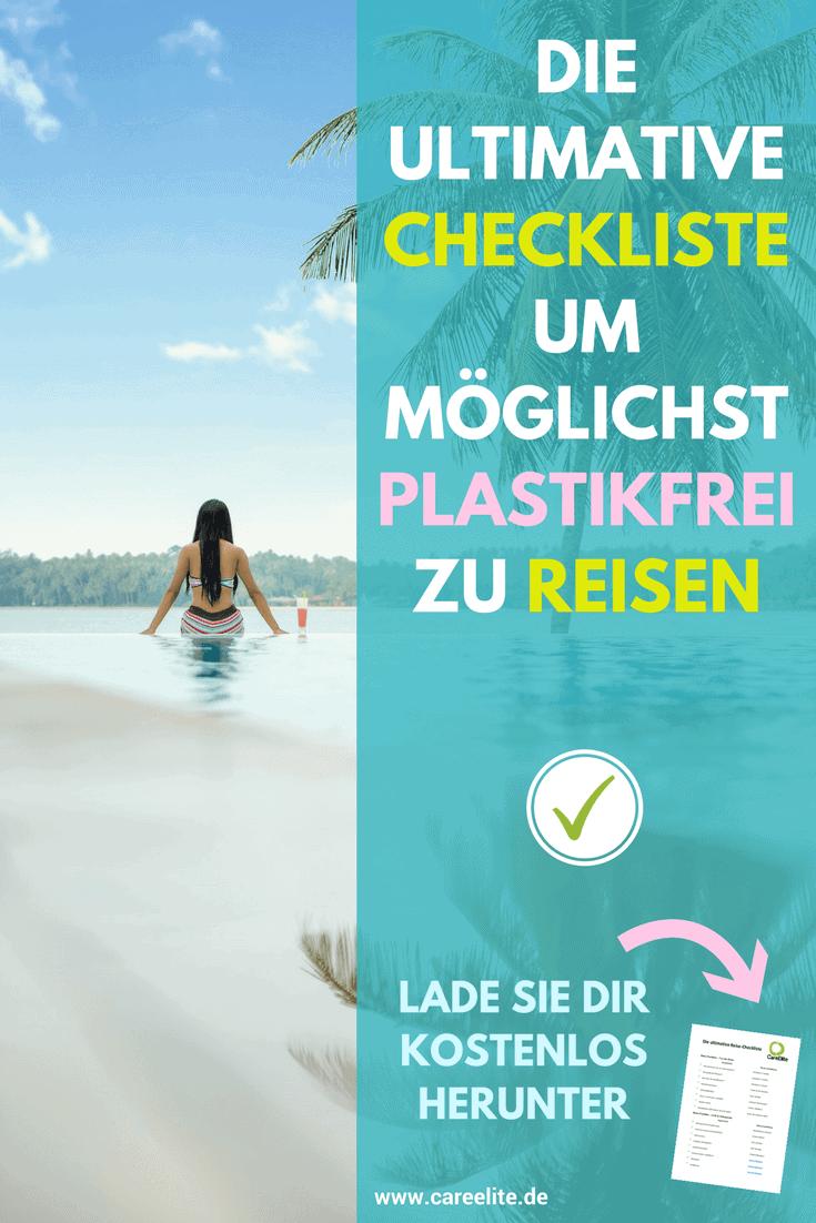 Reise Checkliste für plastikfreies Reisen