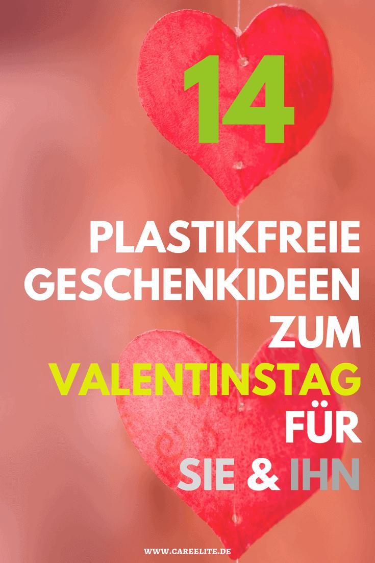 Plastikfreie Valentinstagsgeschenke ohne Plastik