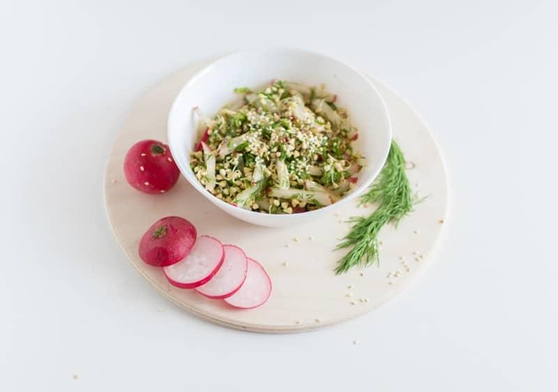 Salat mit Buchweizen Alternative Verwendungsmöglichkeit Buchweizen