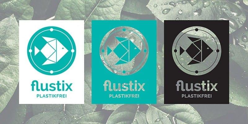 FLUSTIX Plastikfrei Siegel für Produkte ohne Plastik