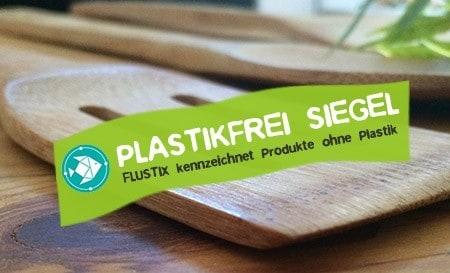Flustix Siegel - Das plastikfrei Siegel für Produkte ohne Plastik