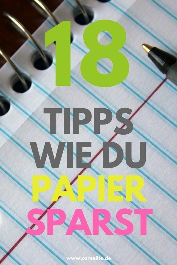 Papier sparen und Papiermüll reduzieren - So geht's!