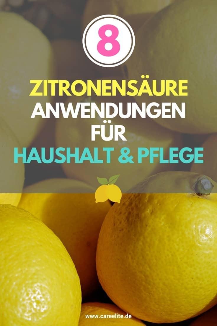 Zitronensäure Anwendungen im Haushalt