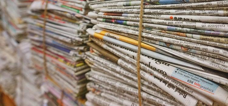 Papierverbrauch reduzieren und Papier sparen Zeitungen online lesen