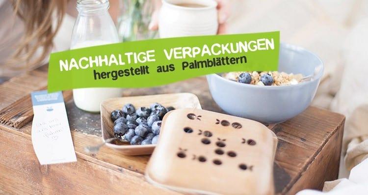 Nachhaltige Verpackungen Palmblätter Arekapak
