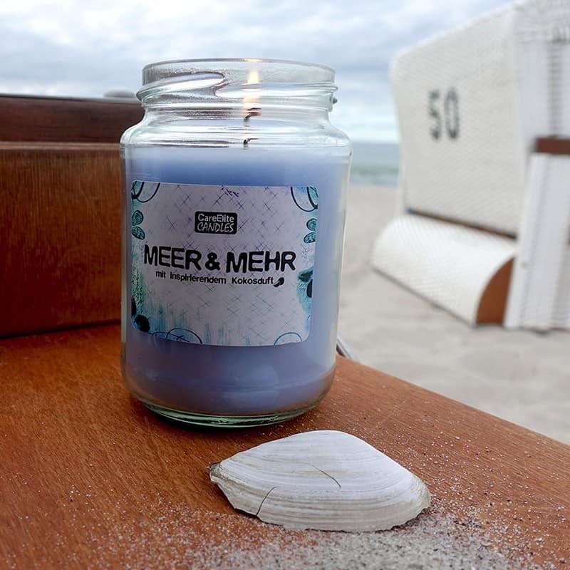 Duftkerze CareElite Candles Kokosduft Kerze Meer und Mehr