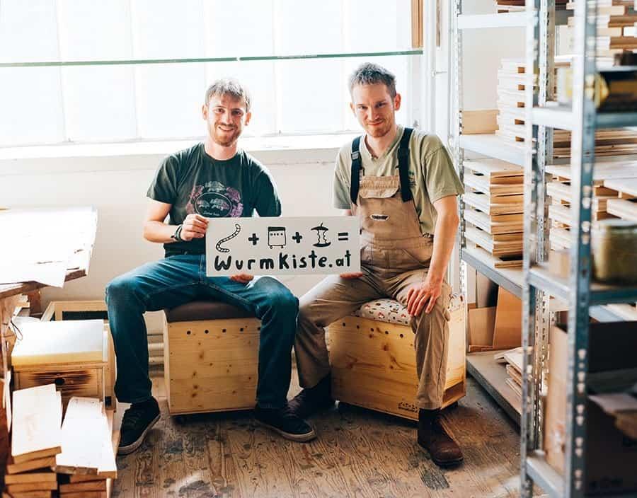 Wurmkomposter aus Holz für den Biomüll