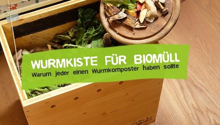 Wurmkiste Wurmkomposter aus Holz für den Biomüll