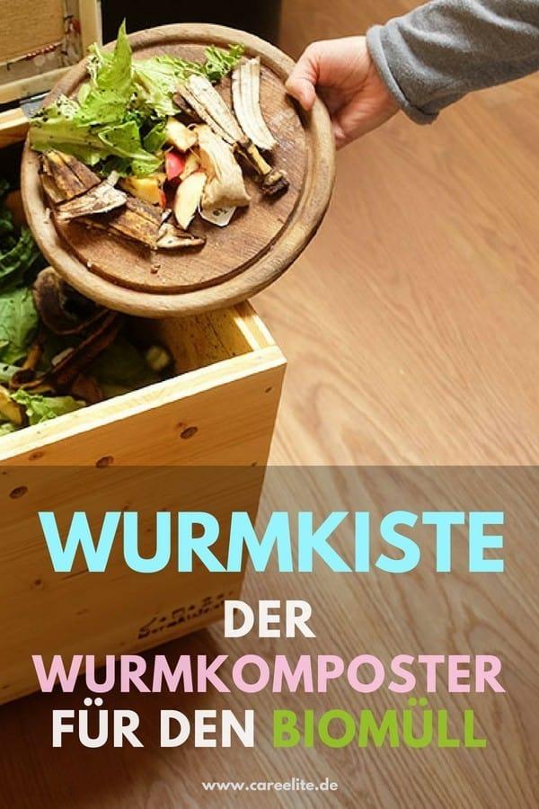Wurmkiste als Wurmkomposter für den Biomüll