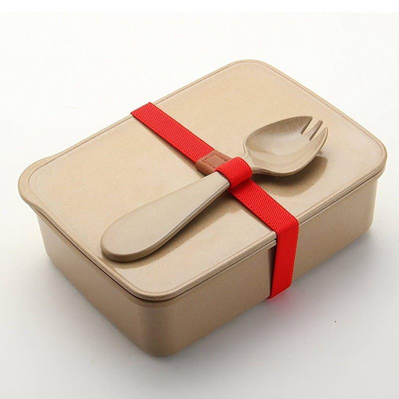 verschlie bare lunchbox aus reis im plastikfrei shop. Black Bedroom Furniture Sets. Home Design Ideas