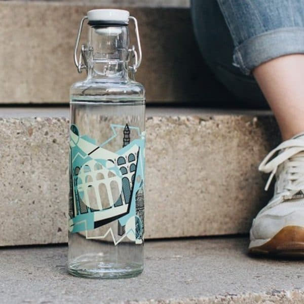 Glasflasche Soulbottle Aquädukt Trinkflasche aus Glas