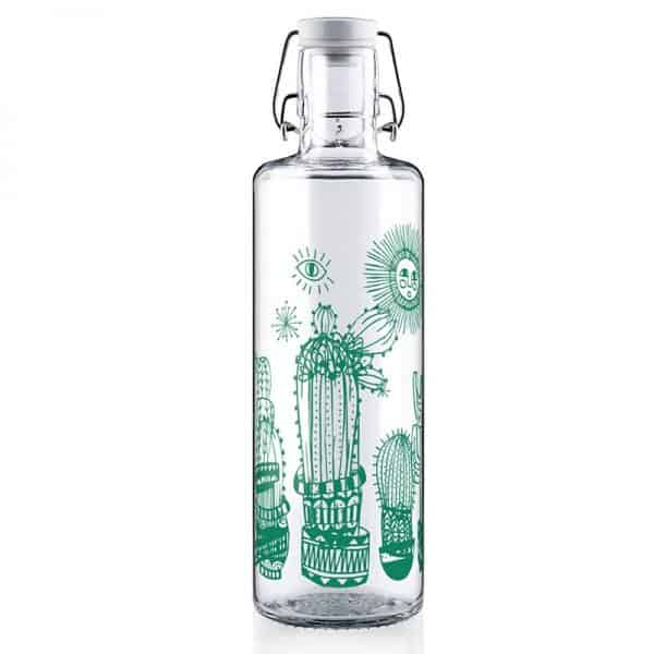 """Glasflasche Soulbottle """"Fill your life with soul"""" Trinkflasche aus Glas"""