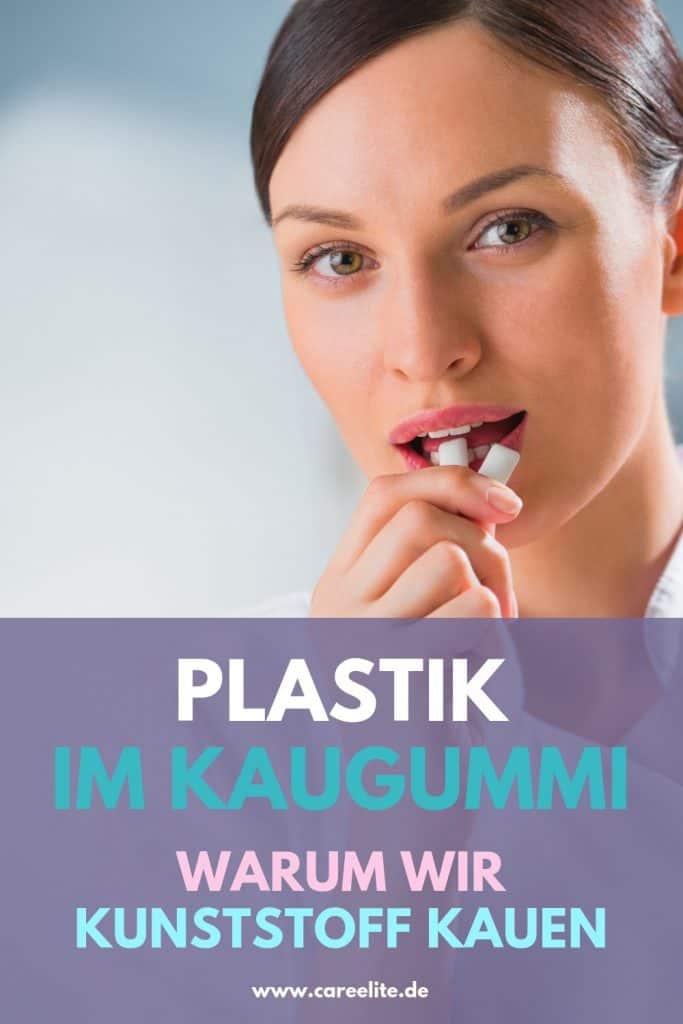 Plastik in Kaugummi Kunststoff kauen