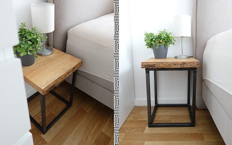 DIY Nachttisch selber bauen - aus Holz und Metall