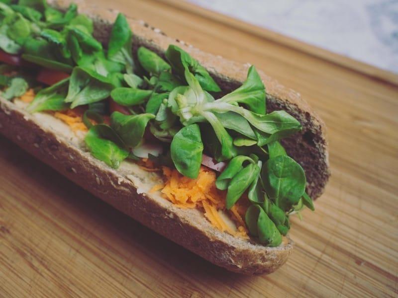 Leckeres Sandwich um vegan im Job satt zu werden