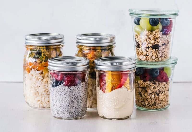 Plastikfrei Leben mit Einmachgläsern als Lunchbox