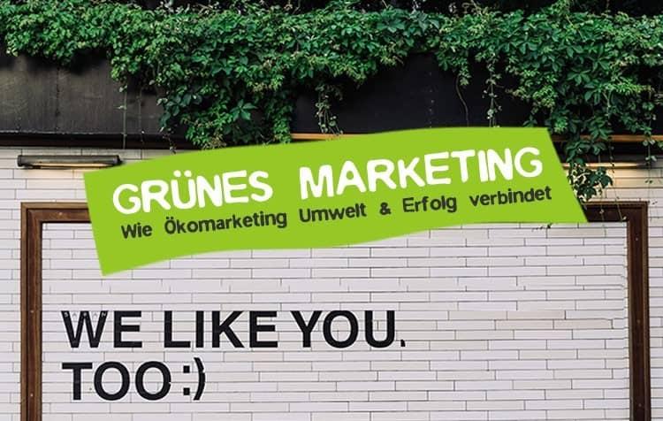Grünes Marketing - So setzt man Ökomarketing um