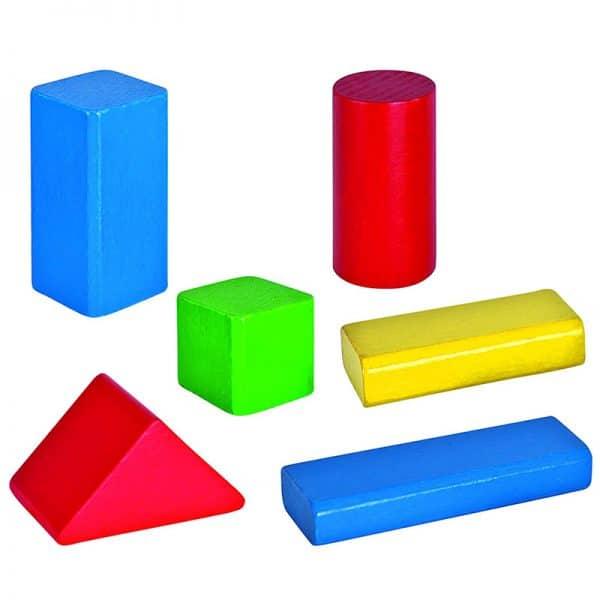 Bunte Bausteine aus Holz als Kinderspielzeug