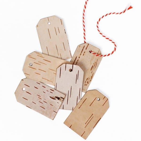 Nachhaltige Geschenkanhänger aus Birkenholz