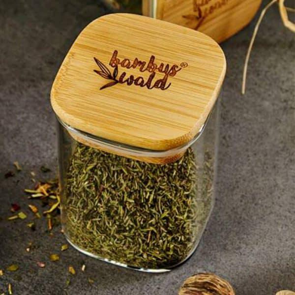 Gewürzbehälter mit Bambusdeckel