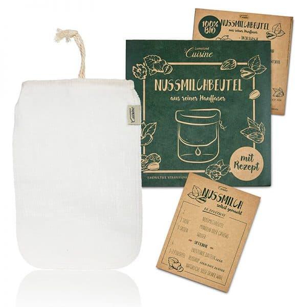 Nussmilchbeutel ohne Plastik