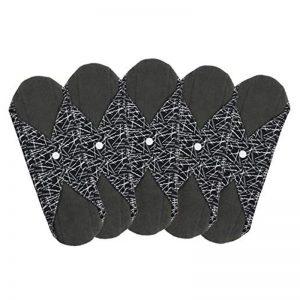 Schwarze Slipeinlagen ohne Plastik Baumwolle Stoff Damenbinde
