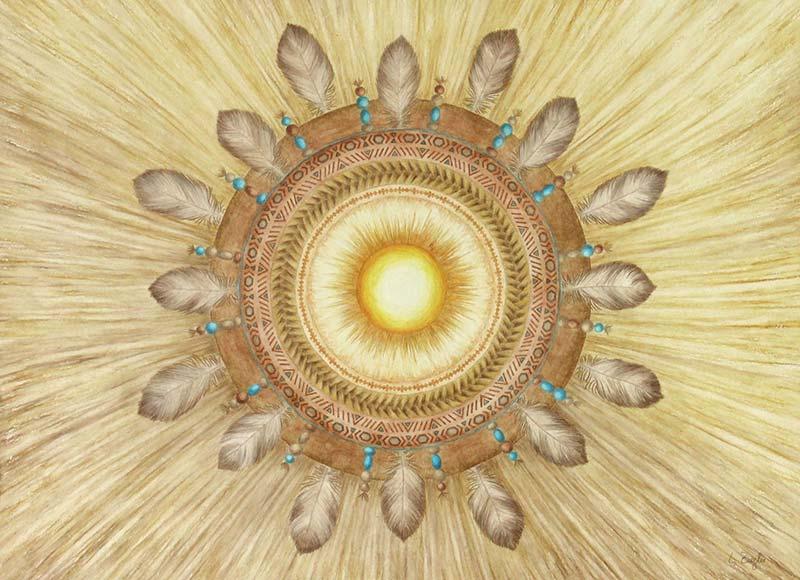 Achtsam leben Mandala