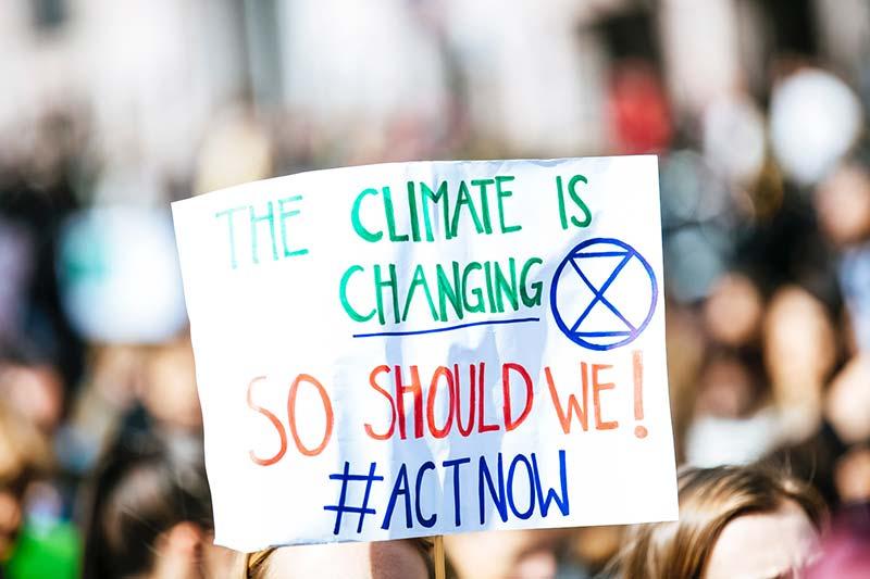 Klimawandel Demo überzeugter Menschen
