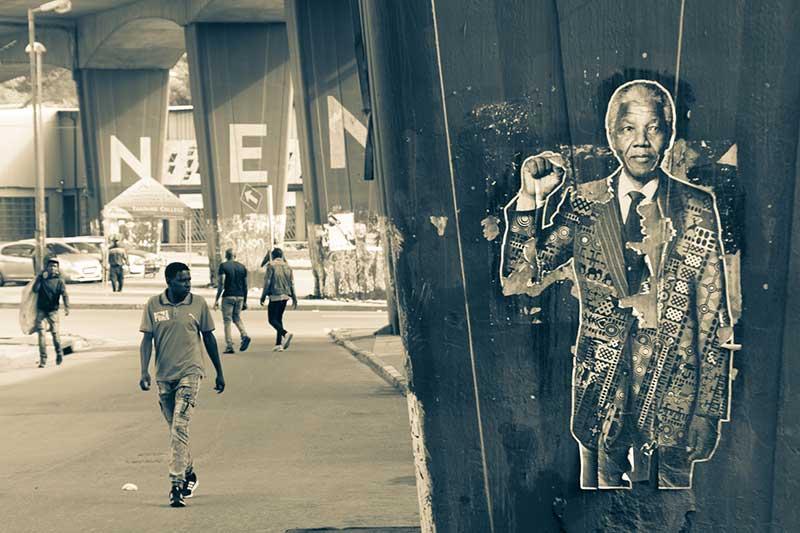 Nelson Mandela Aufkleber