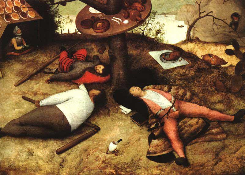 Das Schlaraffenland - Ein Gemälde von Pieter Brueghel dem Älteren