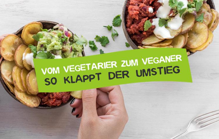 Vom Vegetarier zum Veganer umsteigen