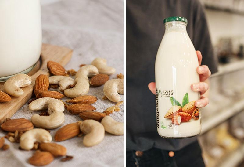 Mandelmilch als veganer Milchersatz